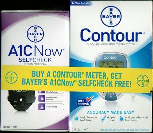 Bayer-Contour-Glucose-Meter-A1CNow-SelfCheck-A1C-System-Kit-Bonus-Pack-0